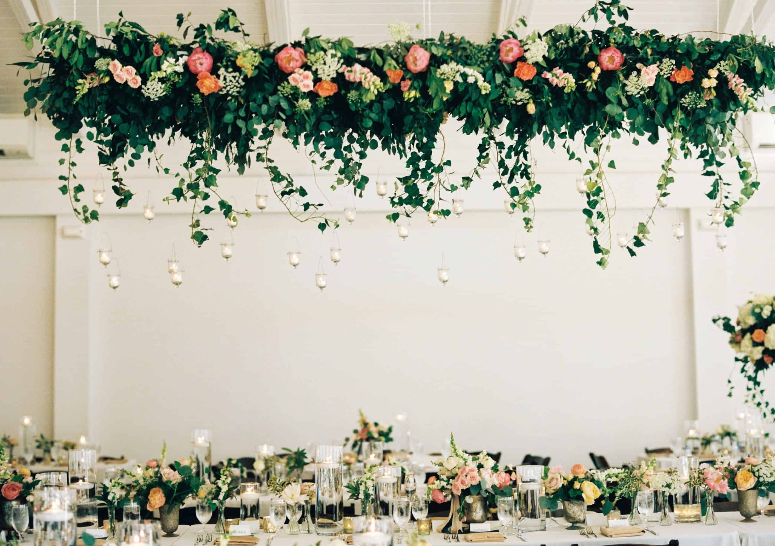 wedding dinner flower decoration