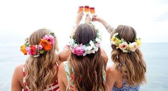 bachelorette party flower wreaths