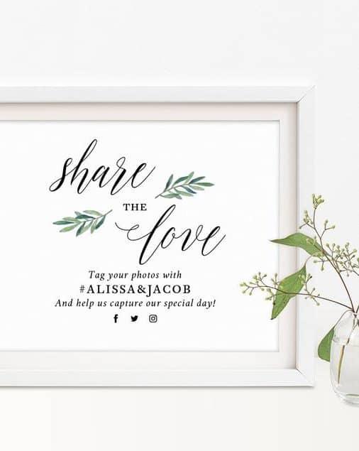 γαμήλια hashtags
