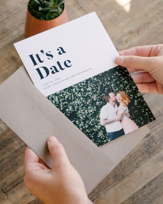 γαμήλια πρόσκληση με φωτογραφία