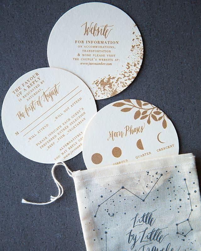 circle wedding invitation