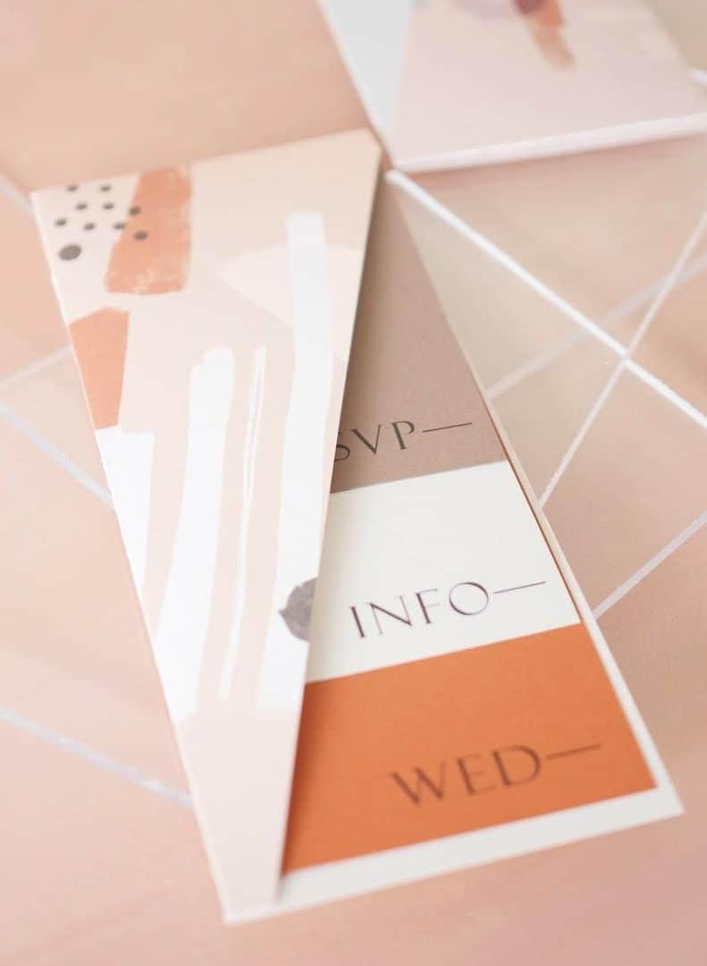 wedding invitation with pocket envelope