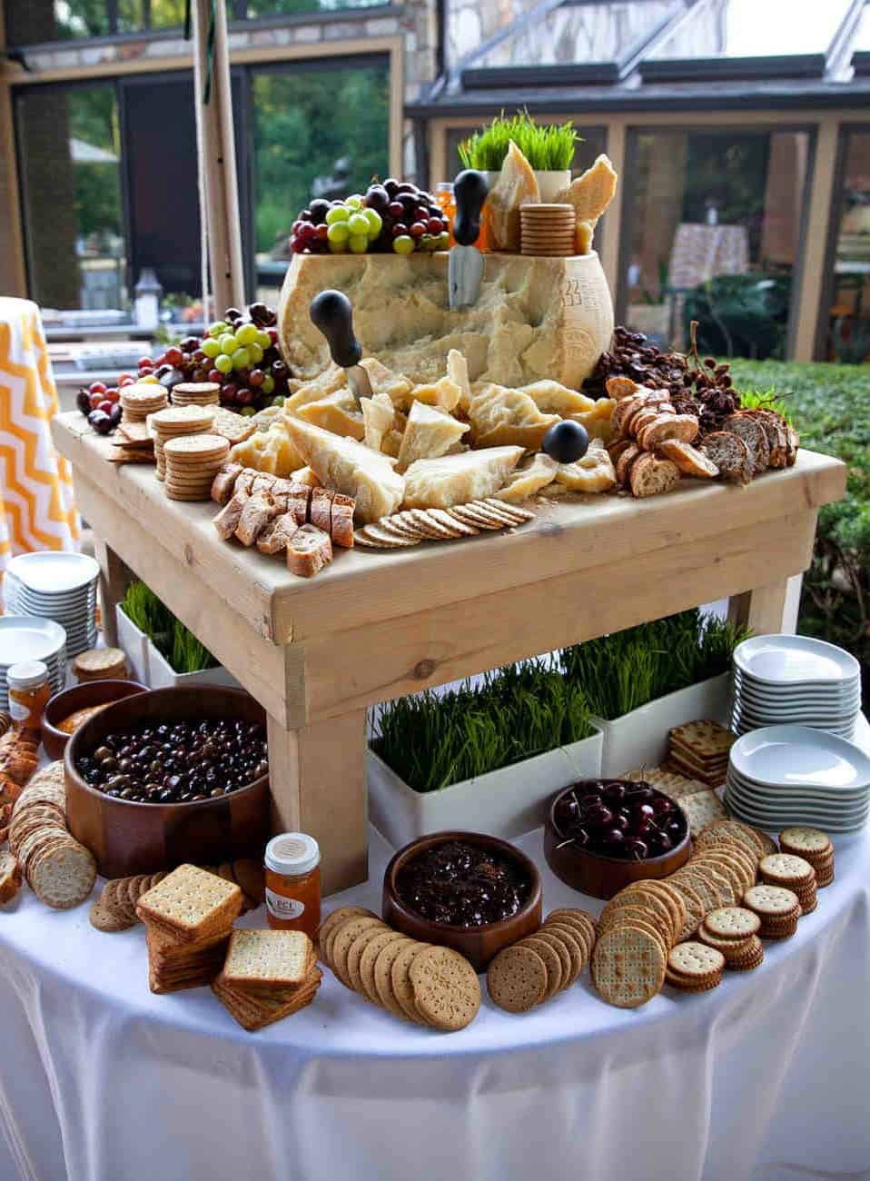 wedding catering with fruits and biscuits