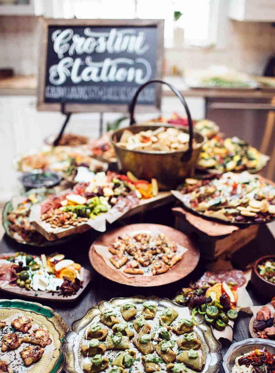 crostini wedding catering