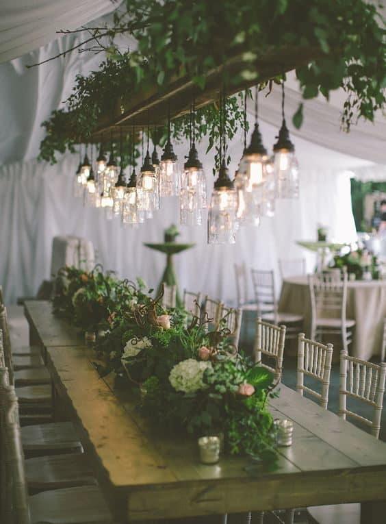 wedding reception hanging decoration