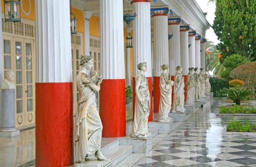 honeymoon Greece Corfu Achillion Palace
