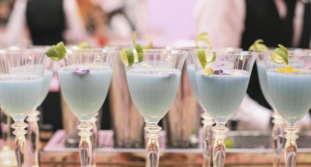 light blue wedding cocktails